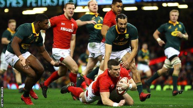 Parkes double helps Wales win see-saw Test with South Africa