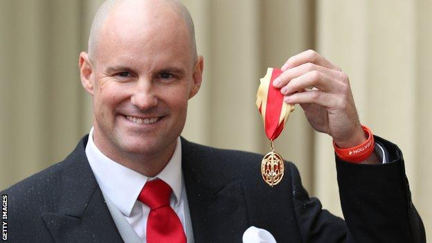 Sir Andrew Strauss with Knighthood