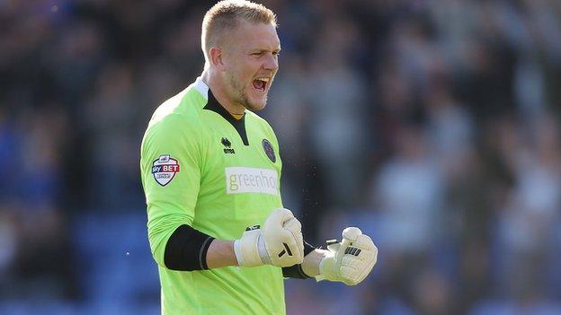 Shrewsbury Town goalkeeper Mark Halstead