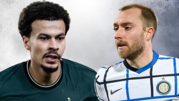 Tottenham's Dele Alli and Inter Milan's Christian Eriksen