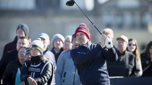 Stephen Gallacher (right) has two events to qualify for the 'Road to Dubai' event at the end of the season