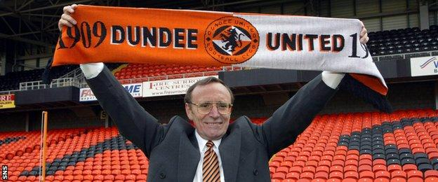 Justine's father Eddie Thompson was a passionate Dundee United fan