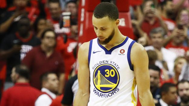 Golden State Warriors on brink of NBA elimination with loss to Houston Rockets -...