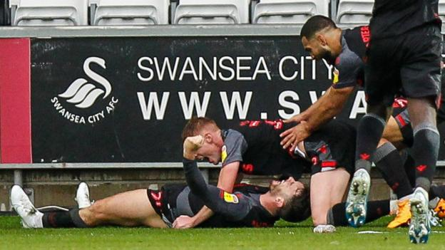 Image result for swansea 1-2 stoke today