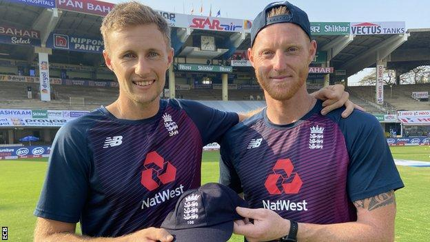 Joe Root becomes the 15th player to play 100 Tests for England