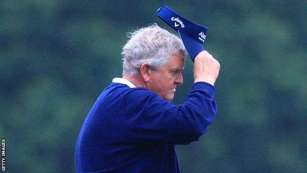 Colin Montgomerie was not able to add a fourth senior major to his list of wins