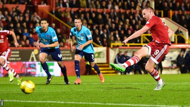 Adam Rooney scored the only goal of the game with a first-half penalty