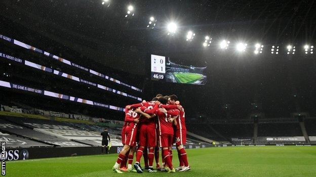Liverpool celebrate win over Spurs