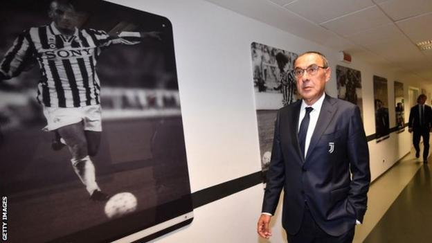 Sarri signed a three-year deal with Juventus in June after leaving Chelsea