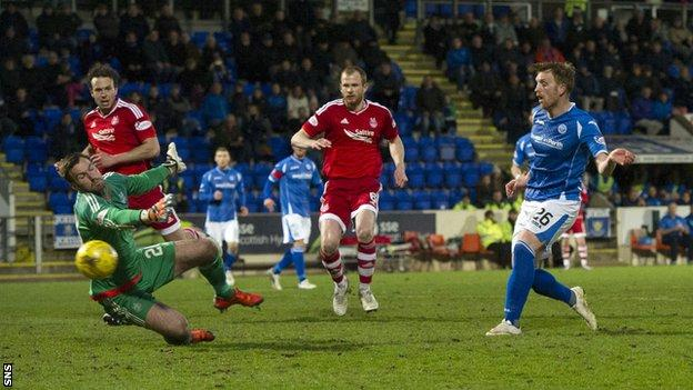 Liam Craig scores for St Johnstone against Aberdeen