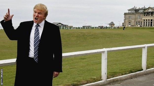 Donald Trump at St Andrews