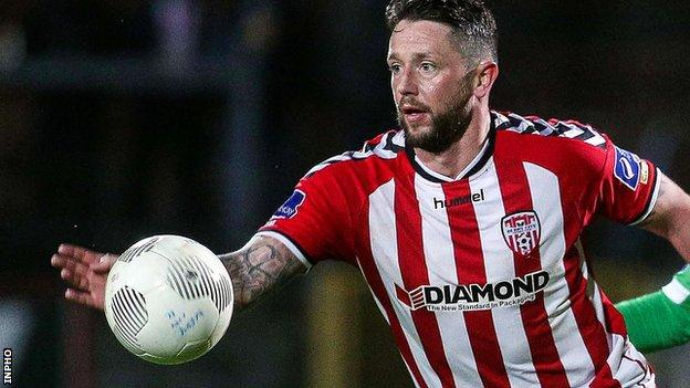 Candystripes forward Rory Patterson missed a first-half penalty in Longford