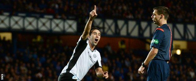 Simon Lappin celebrates his well-struck goal which gave Saints a 2-0 lead