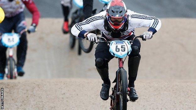 British BMX racer Liam Phillips