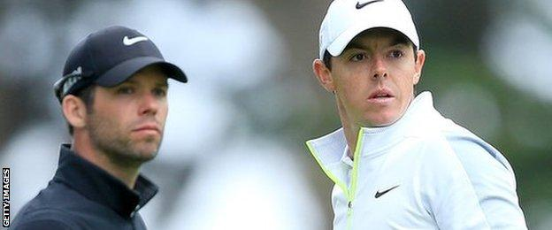 Rory McIlroy and Paul Casey