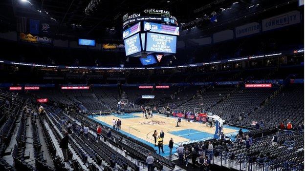 Chesapeake Energy Arena in Oklahoma City, 11 March 2020