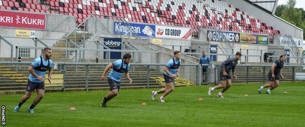 Northern Ireland Ulster training at Kingspan Stadium