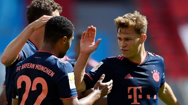Bayer Leverkusen 2-4 Bayern Munich: Champions need two wins to retain Bundesliga title thumbnail