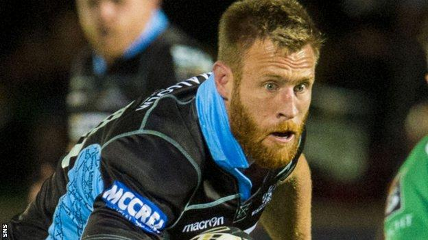 Glasgow Warriors flanker Tyrone Holmes