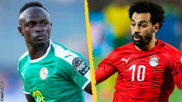 Sadio Mane and Mohamed Salah in action for their countries