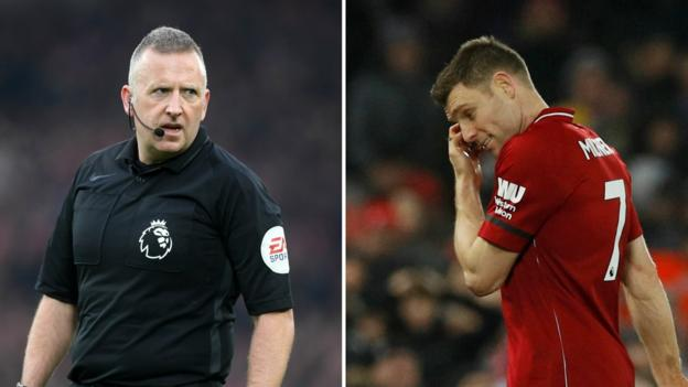 James Milner: Liverpool player sent off by his former PE teacher Jon Moss thumbnail