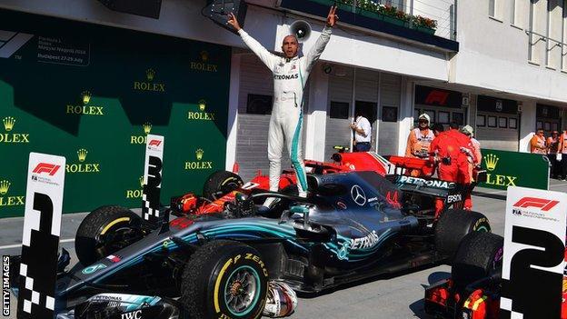 Mercedes' F1 driver Lewis Hamilton