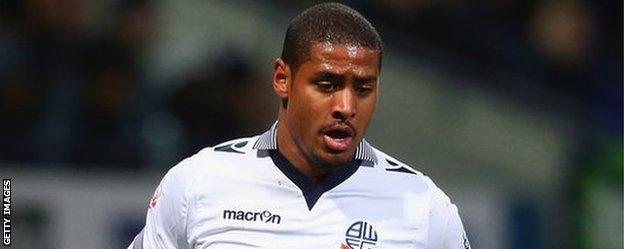 Saidy Janko playing for Bolton Wanderers