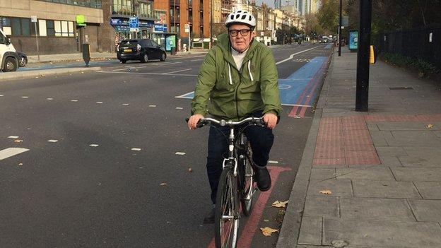 Labour MP Tom Watson cycling