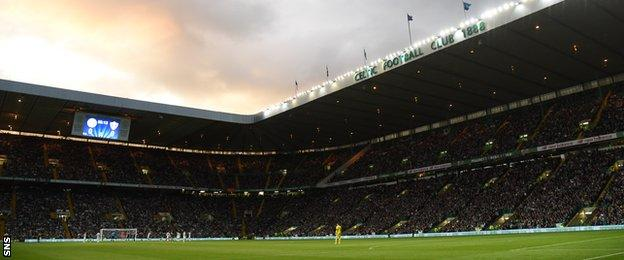 A big crowd descended on Celtic Park for the third qualifying round tie