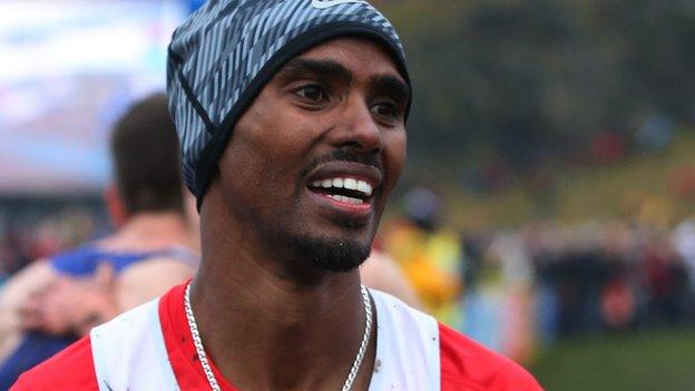 a875c3155c1 Mo Farah beaten as Kate Avery wins at Edinburgh Cross Country - BBC Sport