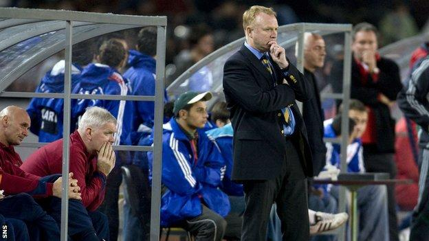 The then Scotland manager Alex Mcleish saw his side fall to a 2-0 defeat in Georgia in 2007