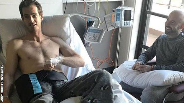 Andy Murray in hospital