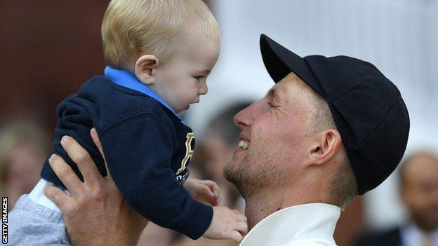 Joe Root and son Archie