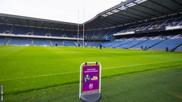 Scottish Rugby is aiming to host a pilot event when the Pro14 returns on 22 August
