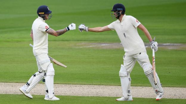 Sibley & Stokes put England on top against West Indies - highlights & report