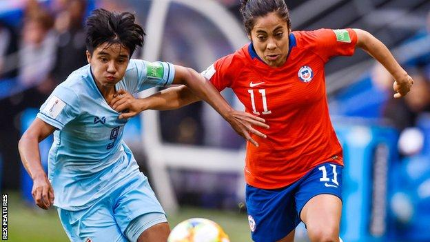 Thailand v Chile from the Women's World Cup