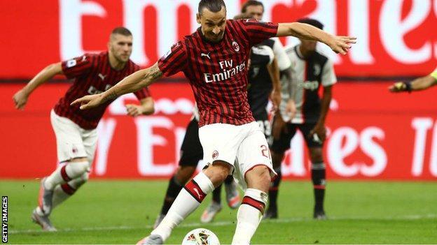 Ac Milan 4 2 Juventus Zlatan Ibrahimovic Scores As Milan Beat Serie A Leaders Bbc Sport