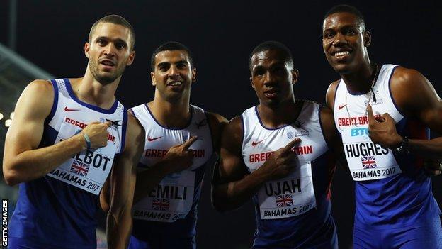 Britain's 4x100m relay team