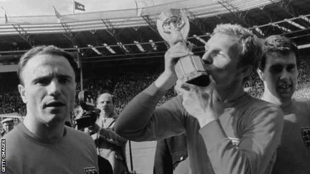 George Cohen, Bobby Moore and Geoff Hurst