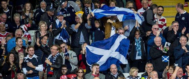 Scotland delighted their fans with a victory and bonus point against Japan