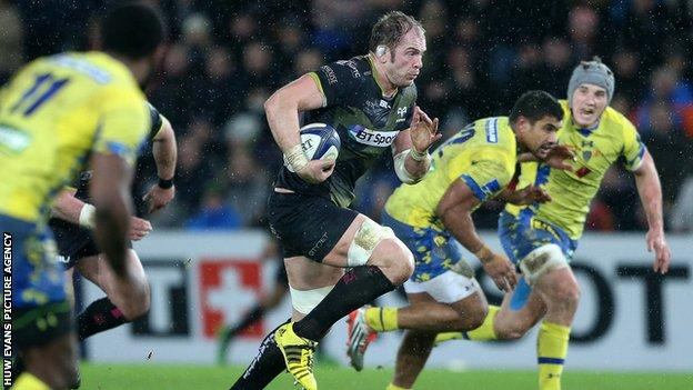 Captain Alun Wyn Jones was an inspirational figure as Ospreys wrestled their way back from a losing position