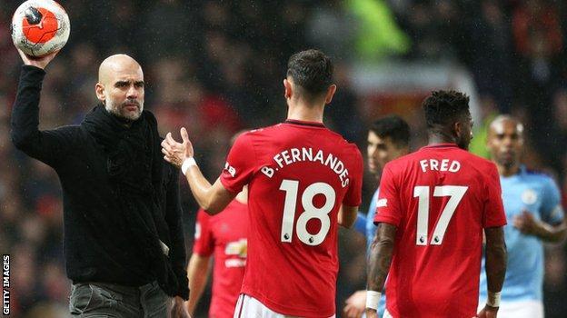 Bruno Fernandes and Pep Guardiola