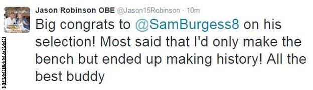 Jason Robinson tweet
