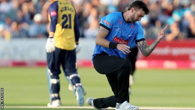 Fast bowler Reece Topley.
