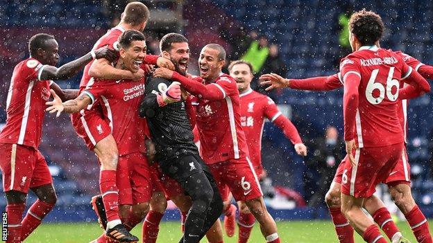 Alisson scores against West Brom