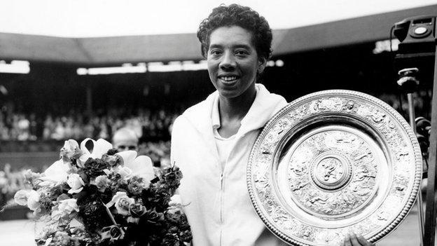 Althea Gibson wins Wimbledon 1957