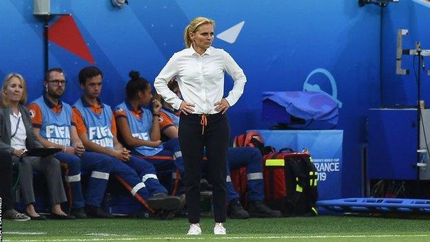 Sarina Wiegman at the 2019 Women's World Cup