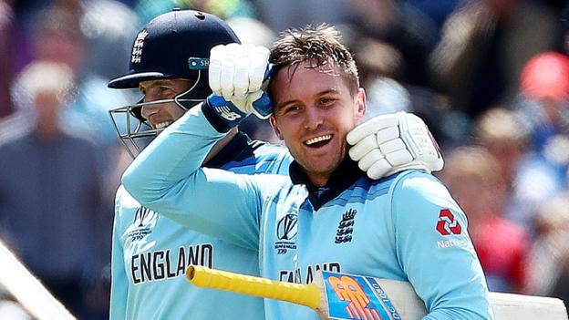Cricket World Cup: Jason Roy hits 153 as England beat Bangladesh in Cardiff thumbnail