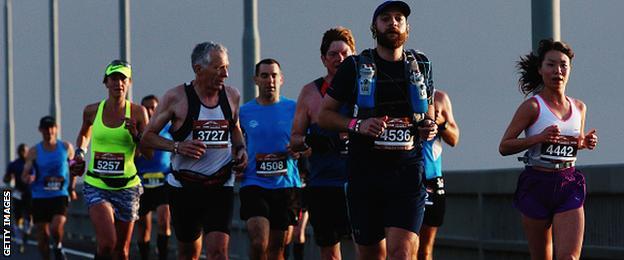 Long distance marathon runners