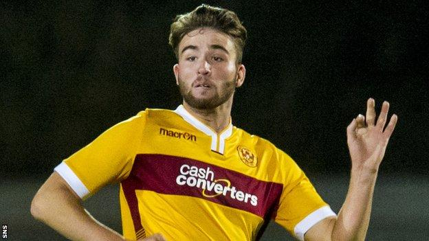 Morgyn Neill in action for Motherwell